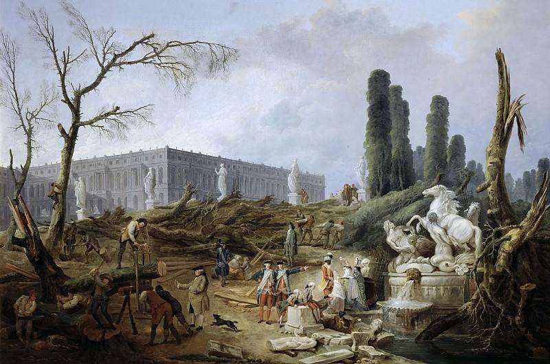 Robert, Hubert -- Le bosquet des Bains d'Apollon. Château de Versailles