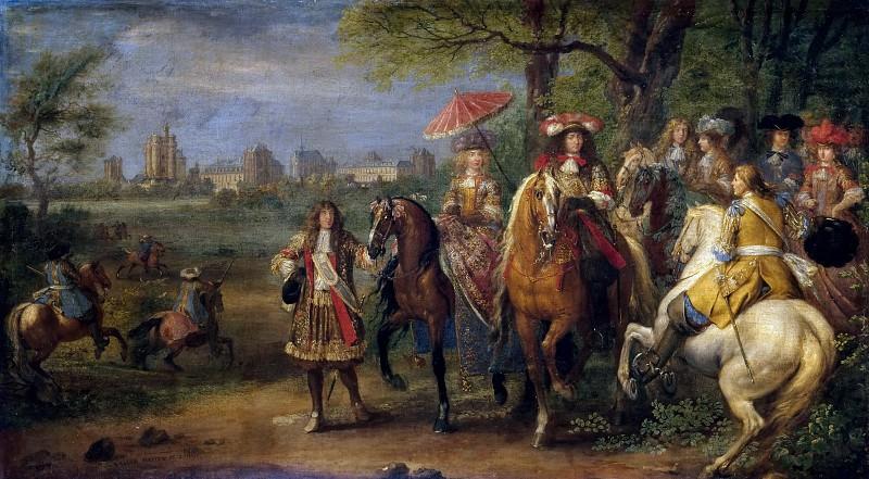 Мейлен, Адам Франс ван дер -- Вид замка Венсен в 1669 году. Версальский дворец