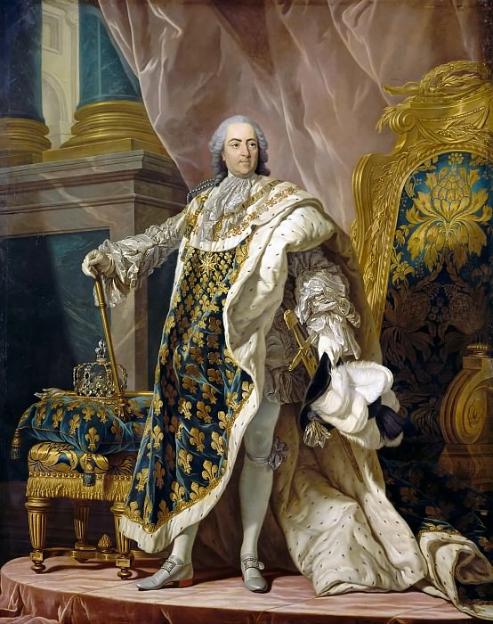 Louis Michel van Loo -- Louis XV, King of France and Navarre (1710-1774). Château de Versailles
