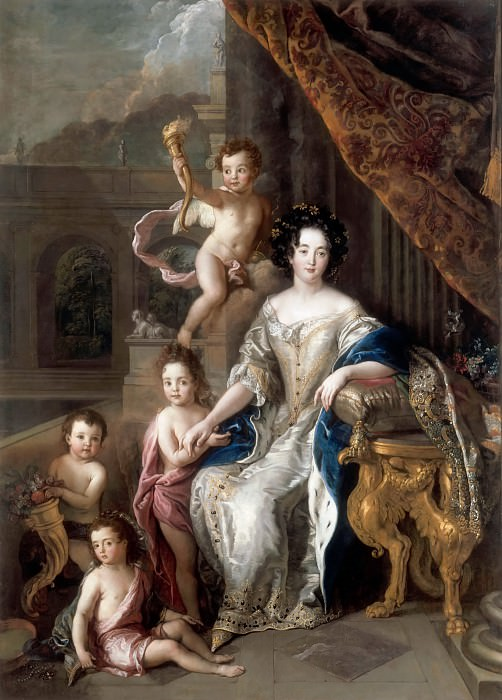 Charles de la Fosse -- Marquise de Montespan surrounded by her first four Legitimate Children. Château de Versailles