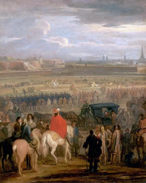 Мейлен, Адам Франс ван дер и Лебрен, Шарль - Капитуляция Камбрэ 18 апреля 1677 года. Версальский дворец