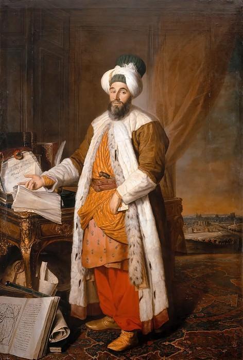 Jacques-André-Joseph Aved -- Portrait of Mehemet Saïd Pacha, Bey de Roumélie, special ambassador to the Ottoman Sultan Mahmoud I. Château de Versailles