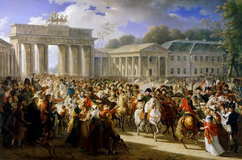 Charles Meynier -- Entry of Napoleon into Berlin, 27 October 1806. Château de Versailles
