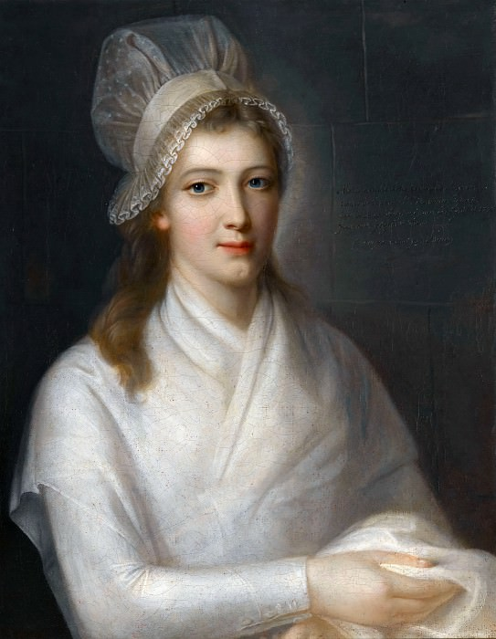 Jean-Jacques Hauer -- Charlotte Corday, after being condemned to death by the revolutionary tribunal on July 17, 1793. Château de Versailles