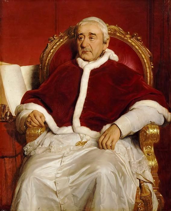 Paul Delaroche -- Pope Gregory XVI (1765-1846). Château de Versailles