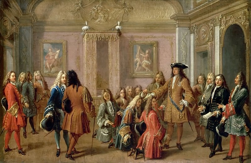 François Marot -- Institution of the Military Order of St. Louis, 10 May 1695. Château de Versailles