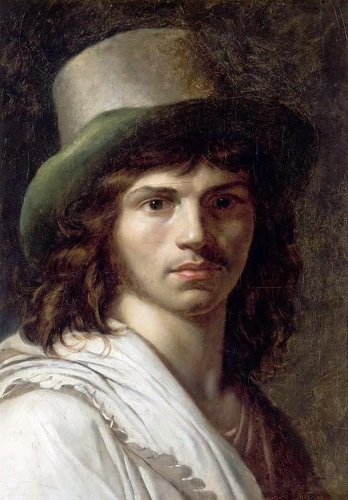Anne-Louis Girodet de Roucy-Trioson -- Self Portrait. Château de Versailles