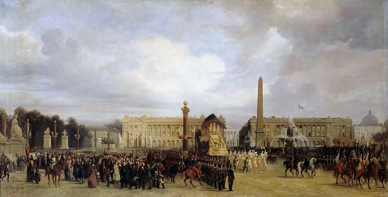Jacques Guiaud -- Napoleon's Funeral Cortege Passing through the Place de la Concorde, 15 December 1840. Château de Versailles