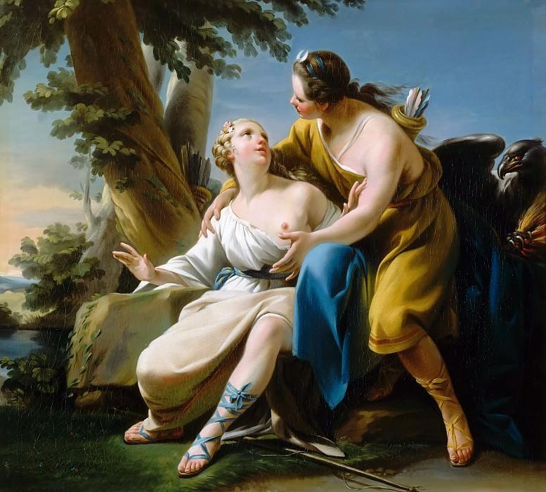 Noël Hallé -- Jupiter, in the guise of Diana, and Callisto. Château de Versailles