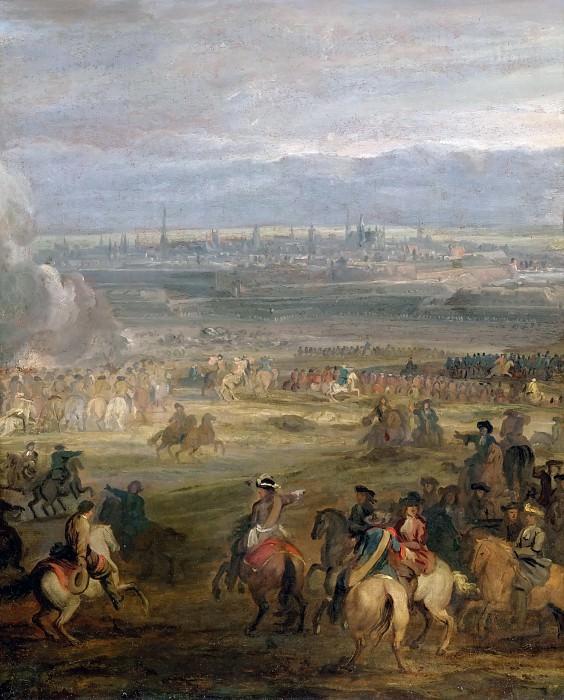 Adam Frans van der Meulen -- Siege of Valenciennes, 16 March 1677. Château de Versailles