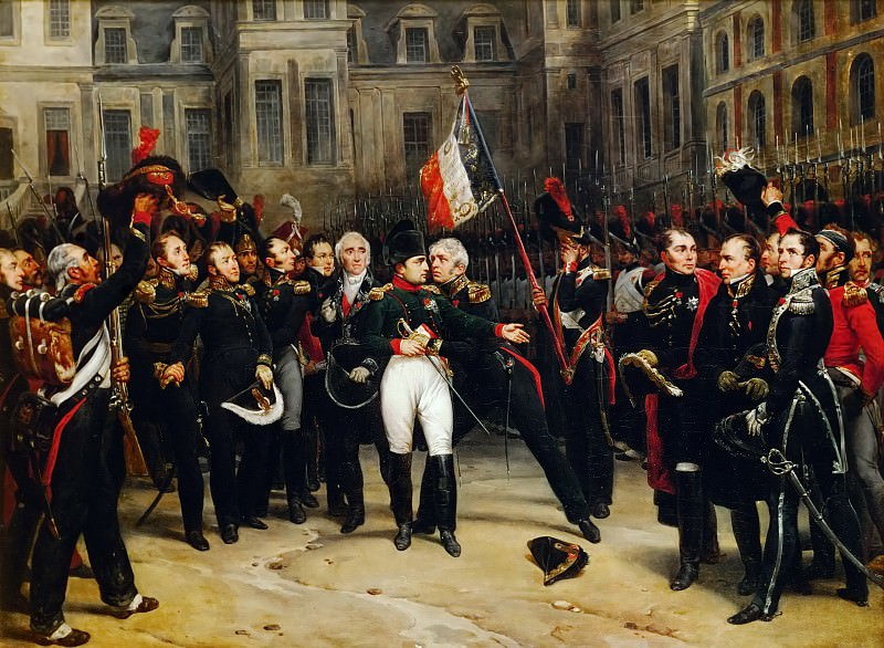 Antoine Alphonse Montfort -- Farewell of Napoleon's imperial guard April 20, 1814. Château de Versailles