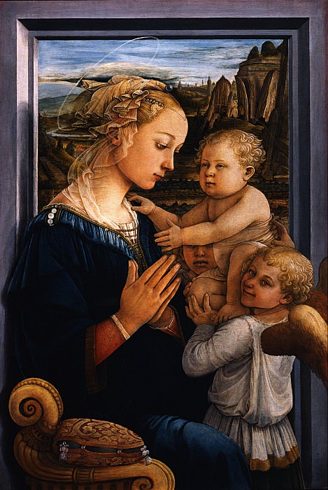 Filippo Lippi - Madonna and Child with two Angels. Uffizi