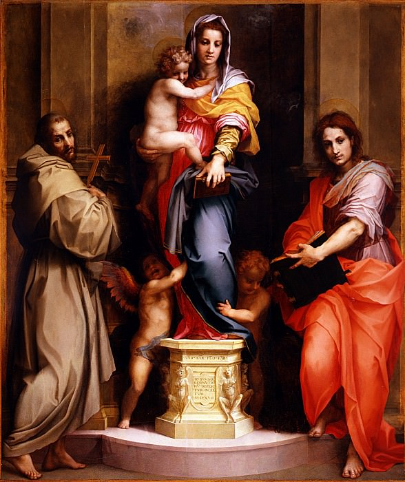 Andrea del Sarto - Madonna of the Harpies. Uffizi