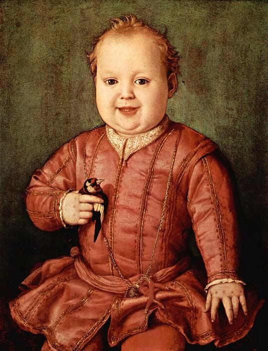 Angelo Bronzino Portrait of Giovanni de Medici as a Child. Uffizi