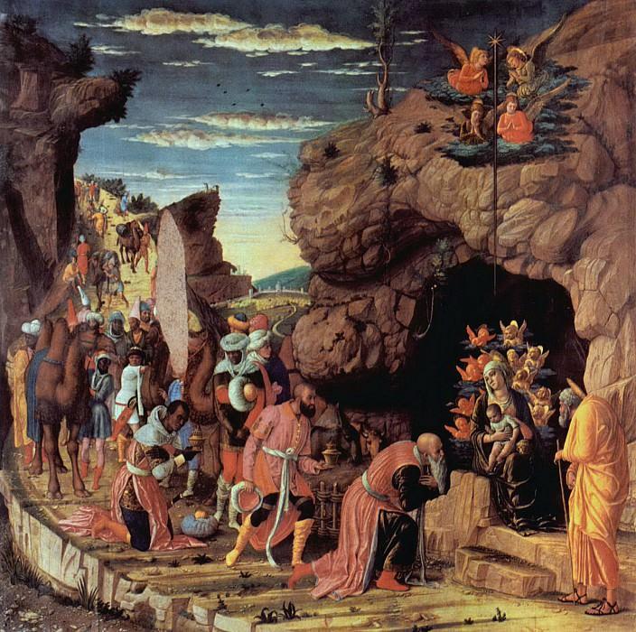 Andrea Mantegna - Adoration of the three kings. Uffizi
