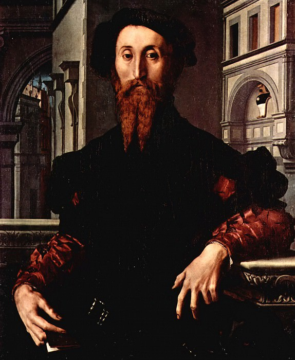 Angelo Bronzino Portrait of Bartolomeo Panciatichi. Uffizi