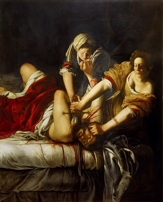 Artemisia Gentileschi - Judith and Holofernes. Uffizi