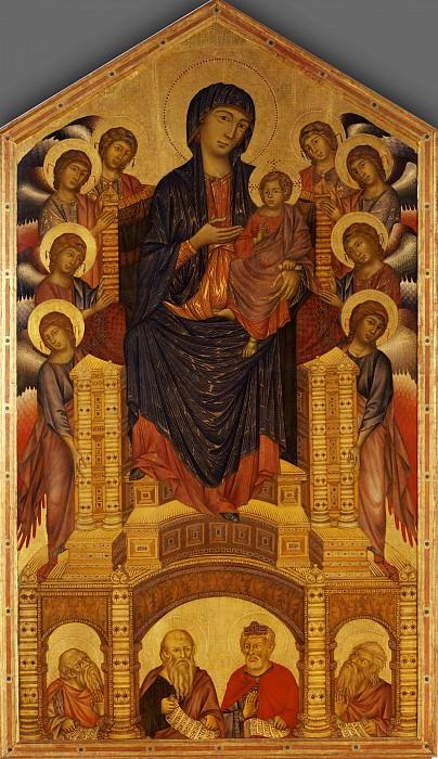 Cimabue - Maesta of Santa Trinita. Uffizi