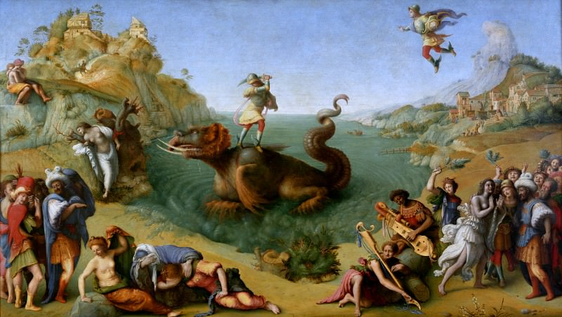 Piero di Cosimo - Andromeda freed by Perseus. Uffizi
