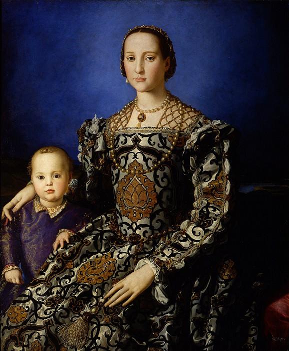 Бронзино - Портрет Элеоноры Толедской с сыном Джованни. Уффици