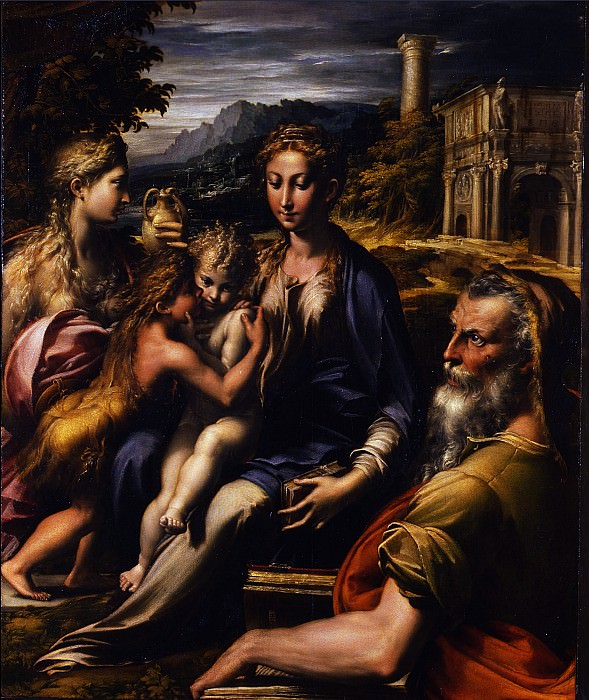 Parmigianino - Madonna with the long neck. Uffizi