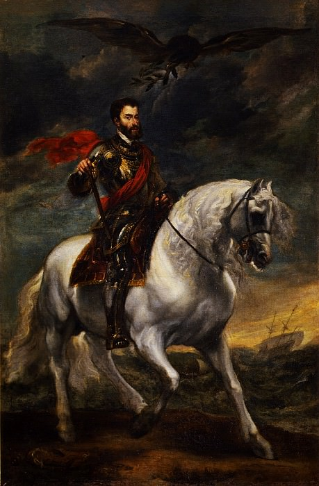 Anthony Van Dick - Equestrian portrait of the Emperor Charles V. Uffizi