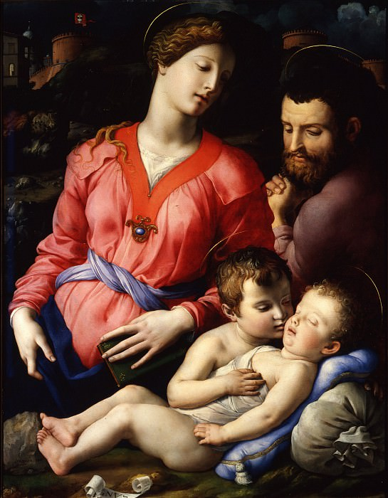 Bronzino - The Panciatichi Holy Family. Uffizi