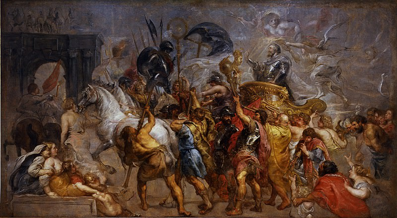 Pieter Paul Rubens - Triumphal entry of Henri IV in Paris. Уффици