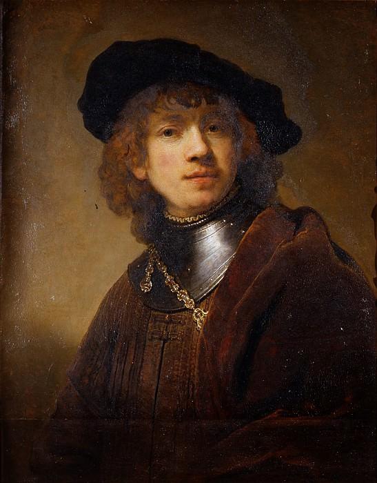 Рембрандт, Харменс ван Рейн - Портрет молодого мужчины. Уффици