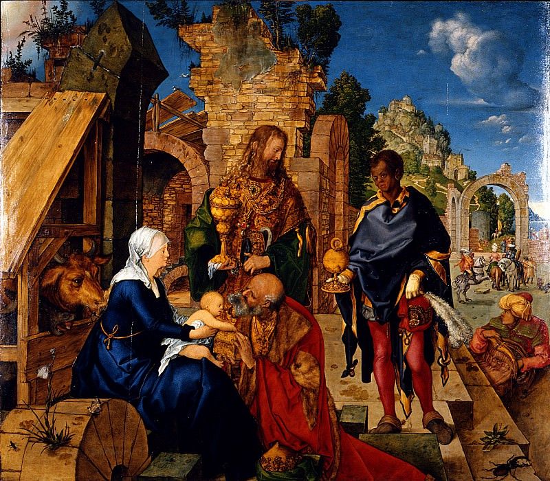 Albrecht Dürer - Adoration of the Magi. Uffizi