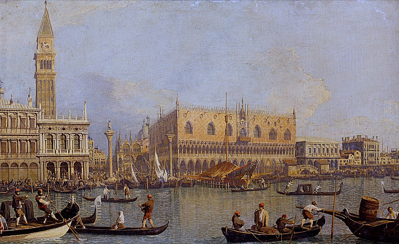 Canaletto - View of the Ducal Palace in Venice. Uffizi