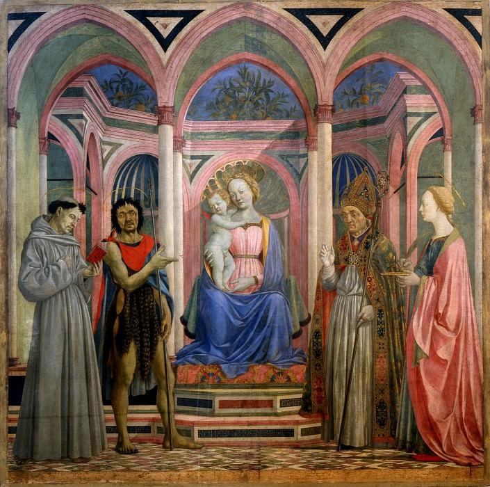 Domenico Veneziano - Altarpiece of St Lucia de Magnoli. Uffizi