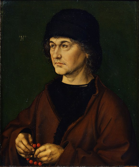 Albrecht Dürer - Portrait of the artists father. Uffizi
