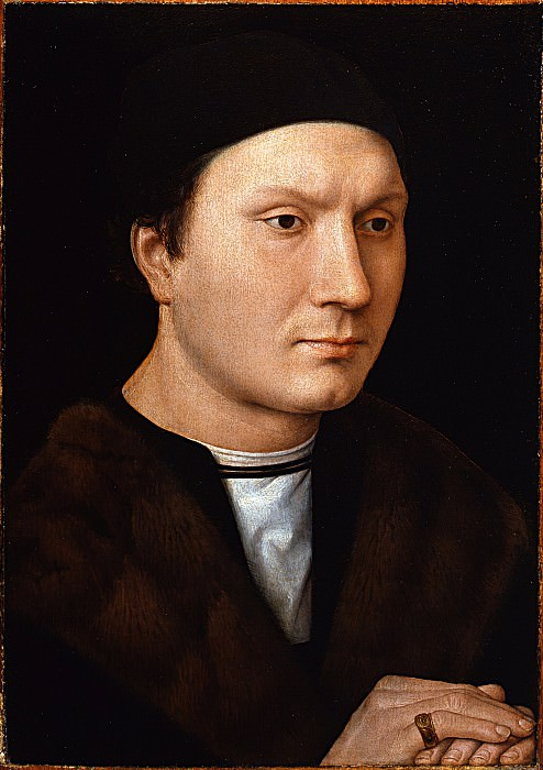 Hans Memling - Portrait of an Unknown Man with a Letter. Uffizi