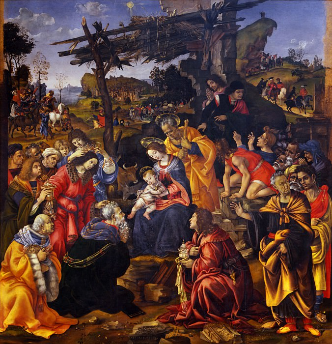 Filippino Lippi - Adoration of the Magi. Uffizi