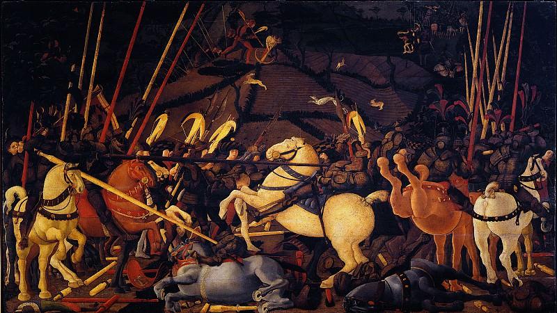 Paolo Uccello - Battle of San Romano. Uffizi