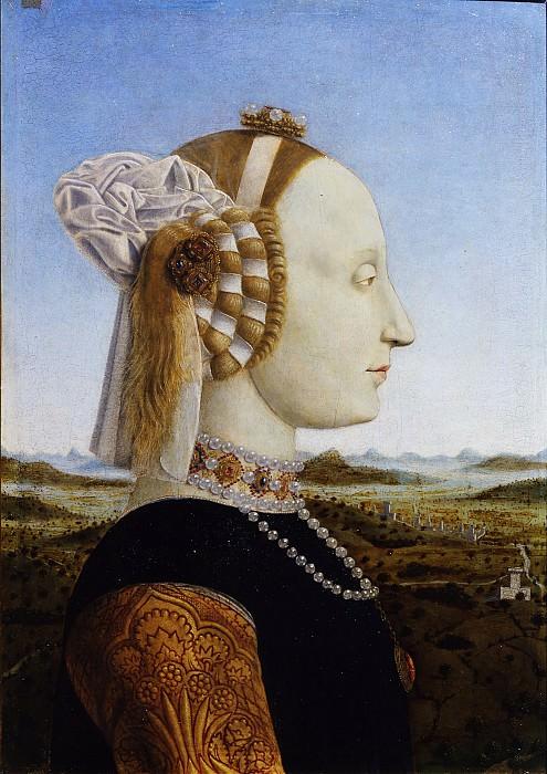 Piero della Francesca - Portraits of the Duke and Duchess of Urbino, Federico da Montefeltro and Battista Sforza. Uffizi