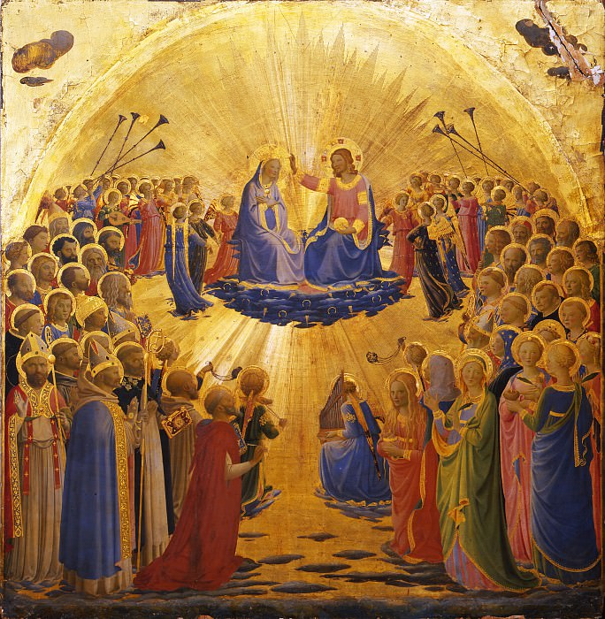 Beato Angelico (Fra Angelico) - Coronation of the Virgin. Uffizi