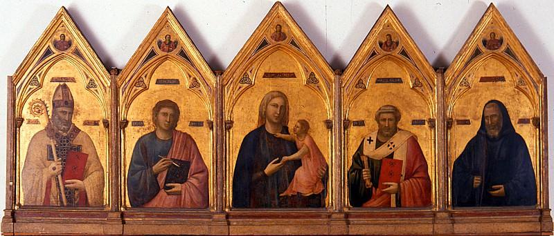 Giotto - Badia Polyptych. Uffizi