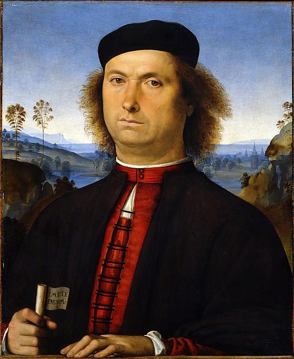 Perugino - Portrait of Francesco delle Opere. Uffizi
