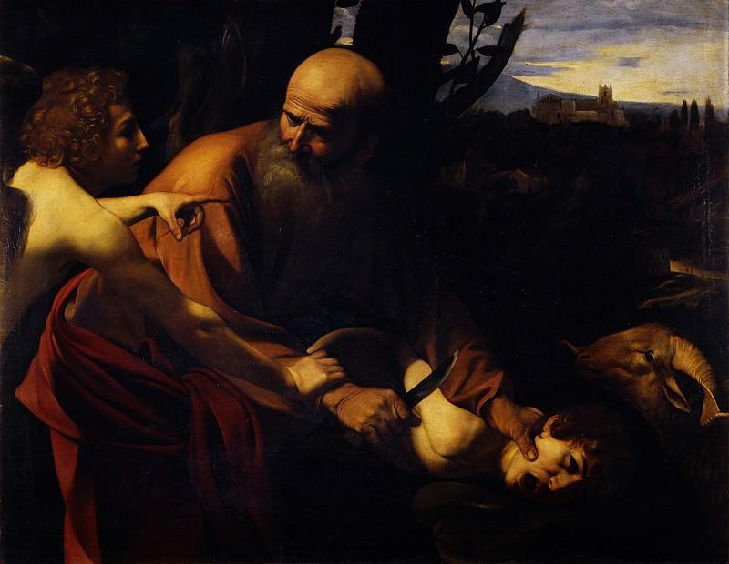 Caravaggio - Sacrifice of Isaac. Uffizi