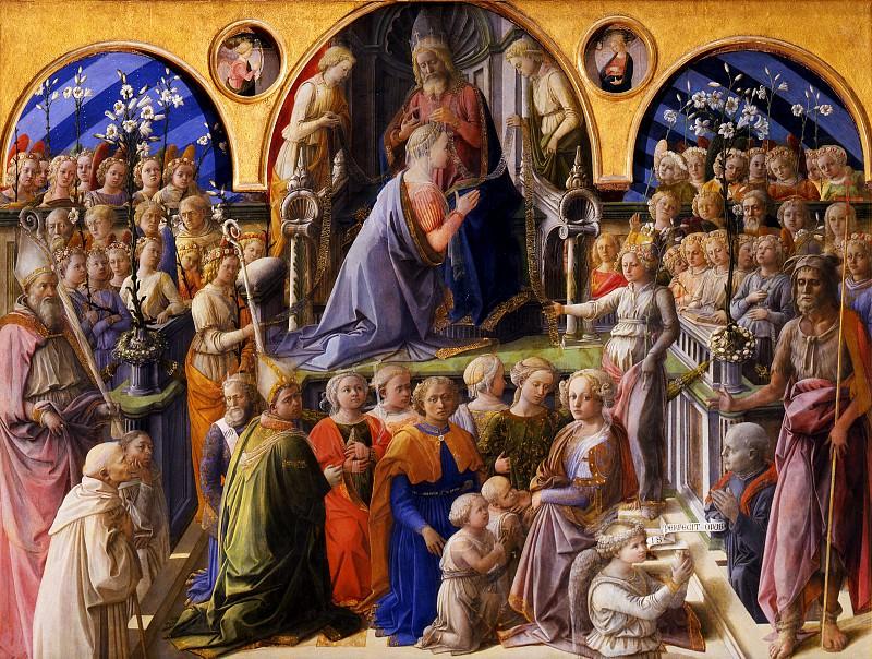 Филиппо Липпи - Коронование Девы Марии. Уффици