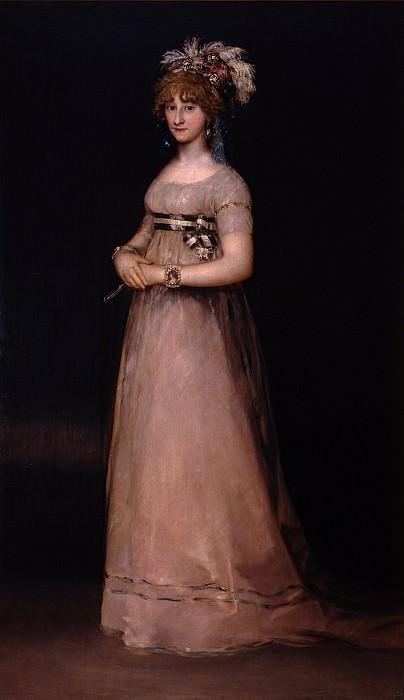 Francisco de Goya - Portrait of the Countess of Chinchon. Uffizi