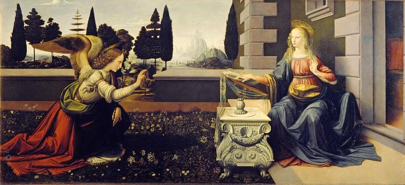 Leonardo da Vinci - Annunciation. Uffizi