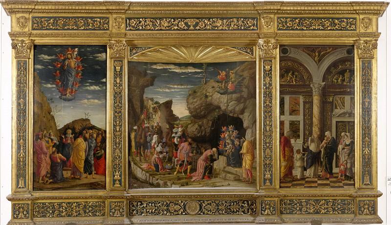 Andrea Mantegna - Triptic. Uffizi