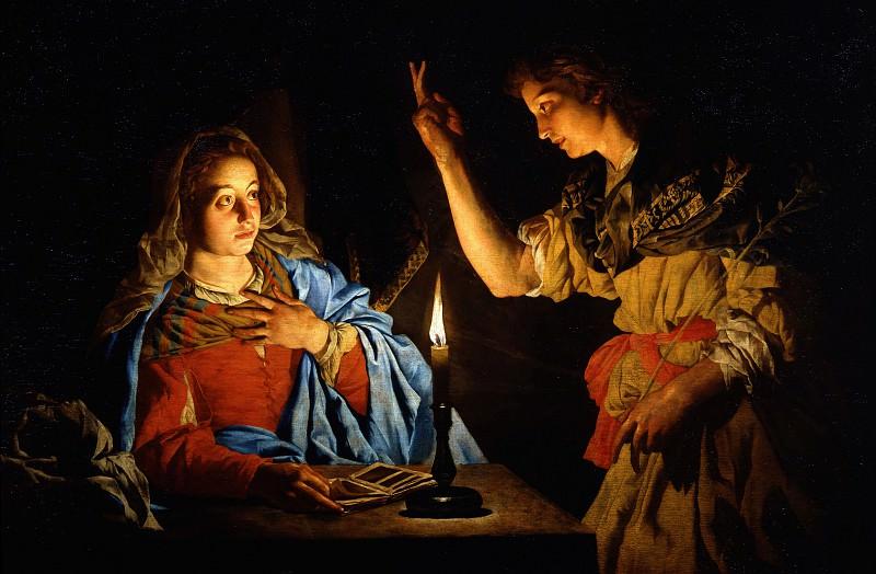 Matthias Stomer - Annunciation. Uffizi