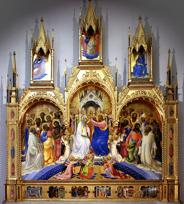 Lorenzo Monaco - Coronation of the Virgin. Uffizi