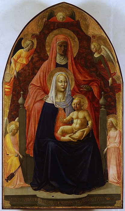 Masaccio Masolino - Saint Anne «Metterza». Uffizi