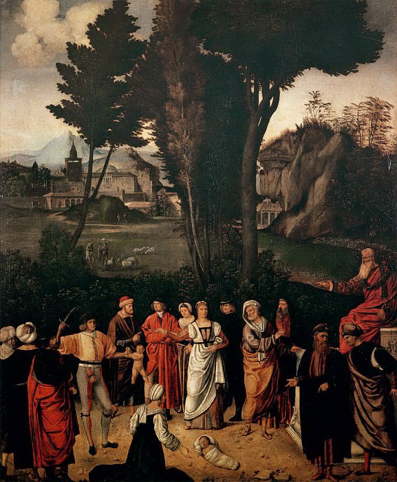 The Judgement of Salomon (Giorgione). Uffizi