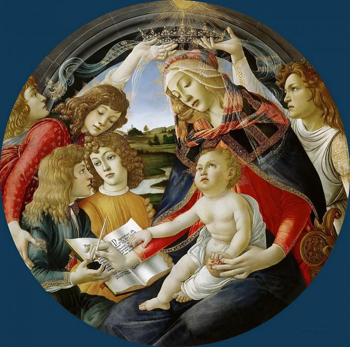 Sandro Botticelli - Madonna of the Magnificat. Uffizi